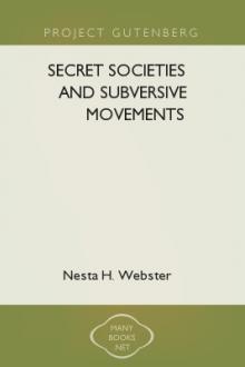 Secret Societies and Subversive Movements by Nesta H