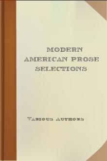 Modern American Prose Selections