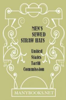 Men's Sewed Straw Hats by United States Tariff Commission