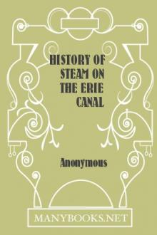 History of Steam on the Erie Canal by Anonymous