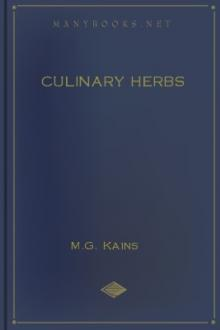 Culinary Herbs by M. G. Kains