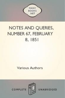 Notes and Queries, Number 67, February 8, 1851