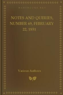 Notes and Queries, Number 69, February 22, 1851