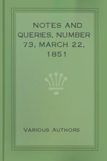 Notes and Queries, Number 73, March 22, 1851