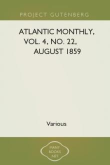 Atlantic Monthly, Vol. 4, no. 22, August 1859 by Various