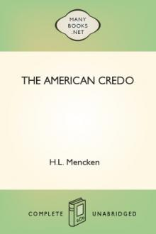 The American Credo by H. L. Mencken, George Jean Nathan