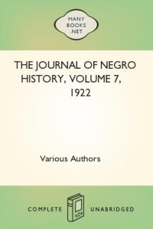 The Journal of Negro History, Volume 7, 1922 by Various