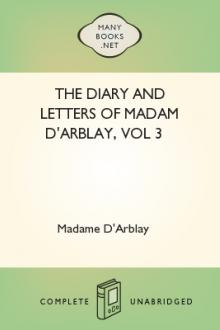 The Diary and Letters of Madam D'Arblay, vol 3