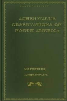Achenwall's Observations on North America by Gottfried Achenwall