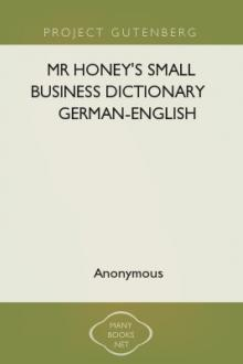 Mr Honey's Small Business Dictionary German-English by Unknown
