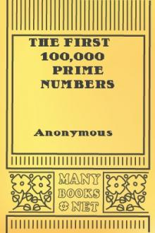 The First 100,000 Prime Numbers by Unknown