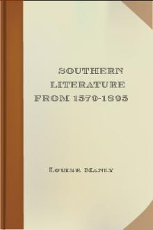 Southern Literature From 1579-1895