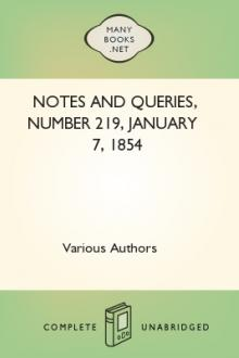 Notes and Queries, Number 219, January 7, 1854