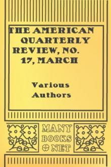 The American Quarterly Review, No. 17, March 1831 by Unknown