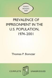 Prevalence of Imprisonment in the U.S. Population, 1974-2001 by Thomas P. Bonczar