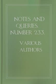 Notes and Queries, Number 233, April 15, 1854