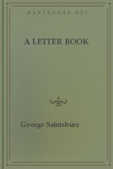 A Letter Book by George Saintsbury