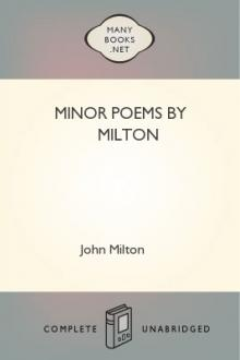 Minor Poems by Milton by John Milton