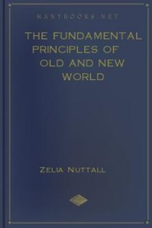 The Fundamental Principles of Old and New World Civilizations by Zelia Nuttall