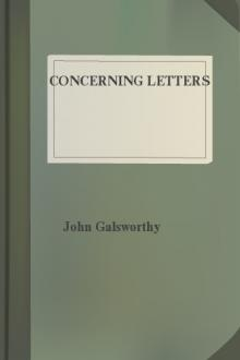 Concerning Letters by John Galsworthy