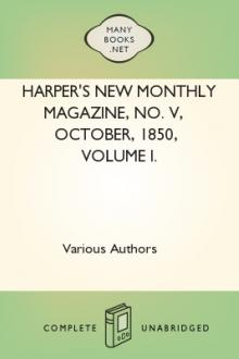 Harper's New Monthly Magazine, No. V, October, 1850, Volume I. by Unknown