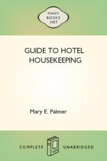 Guide to Hotel Housekeeping by Mary E. Palmer