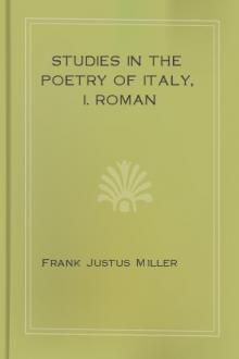 Studies in the Poetry of Italy, I. Roman