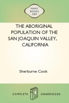 The Aboriginal Population of the San Joaquin Valley, California by S. F. Cook