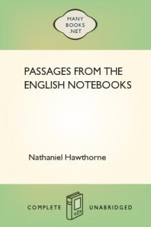 Passages From the English Notebooks by Nathaniel Hawthorne