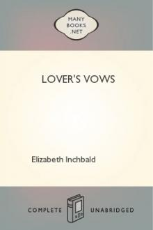 Lover's Vows by August von Kotzebue, Mrs. Inchbald