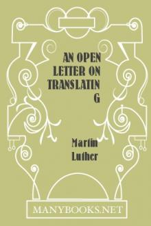 An Open Letter on Translating by Martin Luther