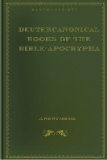 Deutercanonical Books of the Bible/Apocrypha by Anonymous