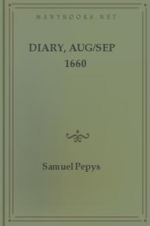 Diary, Aug/Sep 1660 by Samuel Pepys