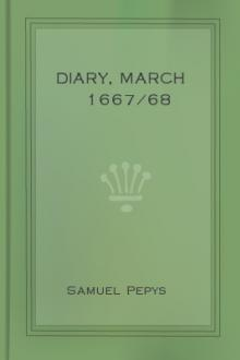 Diary, March 1667/68