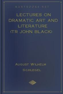 Lectures on Dramatic Art and Literature (tr John Black)