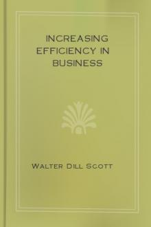 Increasing Efficiency In Business by Walter Dill Scott
