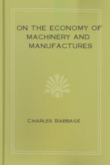 On the Economy of Machinery and Manufactures by Charles Babbage