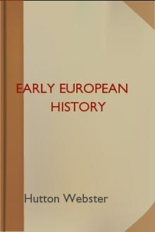 Early European History  by Hutton Webster