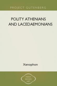 Polity Athenians and Lacedaemonians by Xenophon