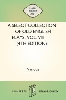 A Select Collection of Old English Plays, Vol. VIII (4th edition)