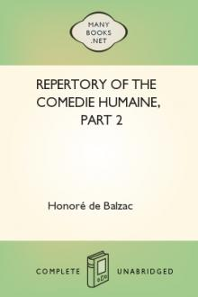 Repertory of the Comedie Humaine, part 2 by Honoré de Balzac
