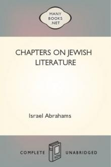 Chapters on Jewish Literature by Israel Abrahams