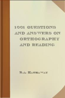 1001 Questions and Answers on Orthography and Reading by B. A. Hathaway