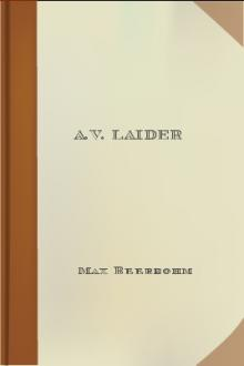 A.V. Laider by Max Beerbohm