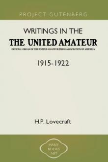 Writings in the United Amateur, 1915-1922 by H. P. Lovecraft