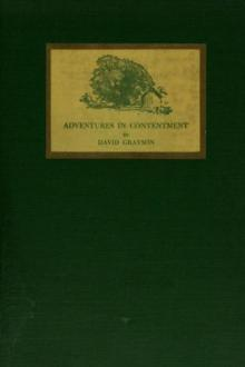 Adventures in Contentment by David Grayson