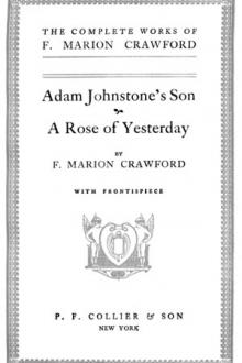 Adam Johnstone's Son by F. Marion Crawford