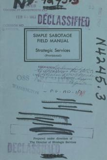 Simple Sabotage Field Manual by United States. Office of Strategic Services