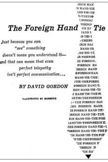 The Foreign Hand Tie by Randall Garrett