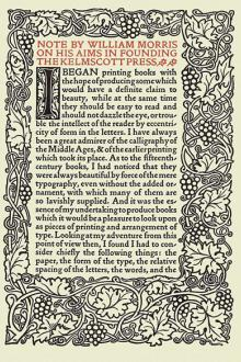 The Art and Craft of Printing by William Morris